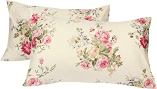 YIH Luxury Pillowcases Set of 2, 600 Thread Count 100% Cotton Queen Size Pillow Covers