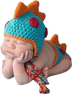 Accesorios de fotografia foto de punto de ganchillo bebeTraje de panal sombrero de bebe hecho a mano