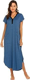 Long Nightgown Lounging Sleepwear Women's Oversized Nightshirt Loungewear Sleep Dress