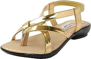 BELLY BALLOT Golden Baby Girls' Fashion Sandals