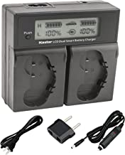 Kastar LCD Dual Smart Fast Charger for Nikon EN-EL18, EN-EL18a, ENEL18, ENEL18a, MH-26, MH-26a, MH26 and Nikon D4, D4S, D5 Digital SLR Camera, Nikon MB-D12, D800, D800E Battery Grip