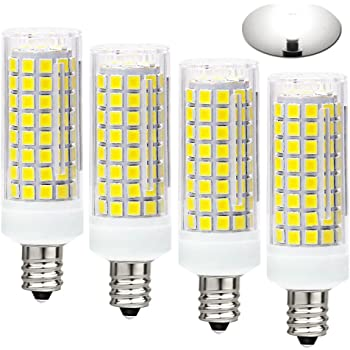 LXcom 10W E12 LED Corn Light Bulb 4 Pack AC110-120V - 2835 SMD 102LEDs E12 Dimmable 100 Watt Equivalent Bulb 1000LM Warm White 3000K LED Chandelier Bulbs Decorative Candle E12 Base for Home Lighting