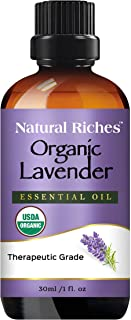 Organic Lavender Essential Oil with Premium Therapeutic Quality Pure USDA Certified - for Diffuser, Aromatherapy, Sleep, H...