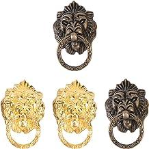 VOSAREA 4 stks Leeuw Hoofd Ring trekt Handvat Chinese Antieke Deur Knocker voor Dressoir Lade Kabinet