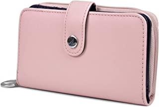 Be Shore Womens Wallet RFID Blocking Zip Around Clutch (Aloha Pink)