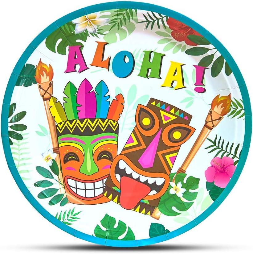WERNNSAI Hawaiian Luau Party Supplies - 50PCS 9