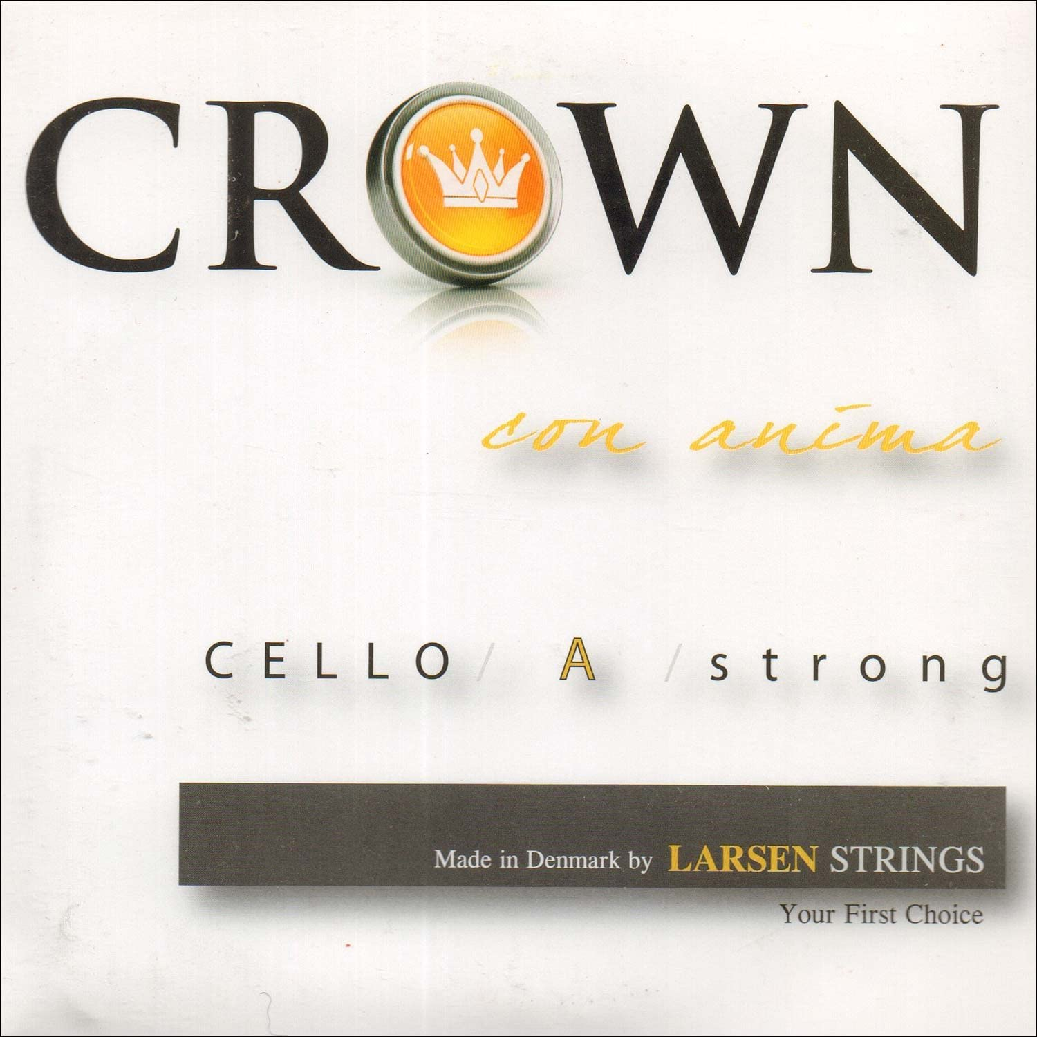 Latest item Crown Special price for a limited time 4 Cello String Set - St Gauge Chromesteel Thick Forte