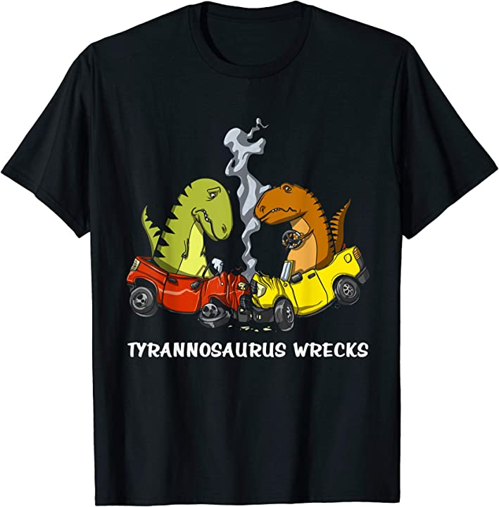 T-Rex Dinosaur Wrecks cool shirt for women men kids