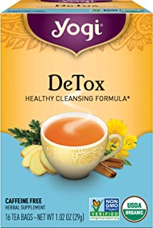 Yogi Tea - DeTox Tea (6 Pack) - Healthy Cleansing Formula With Traditional Ayurvedic Herbs - 96 Tea Bags