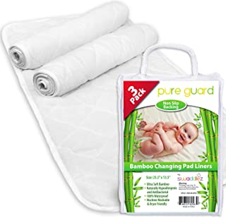 """Changing Pad Liners (3 Pack) - EXTRA LARGE 27"""" X 14"""" - Baby Diaper Changing Table Leaks & Messes Protection"""