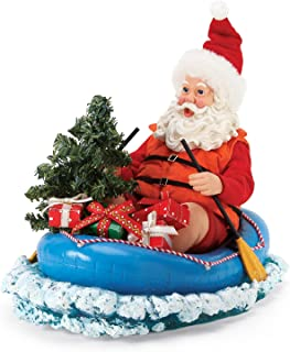 Department 56 Possible Dreams Santas Sports and Leisure Paddle Captain Figurine, 8 Inch, Multicolor