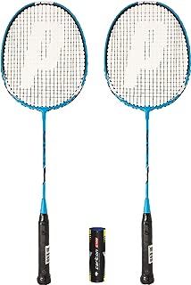 Prince 2 x Power Ti 75 Badminton Raqueta + 6 Volantes (