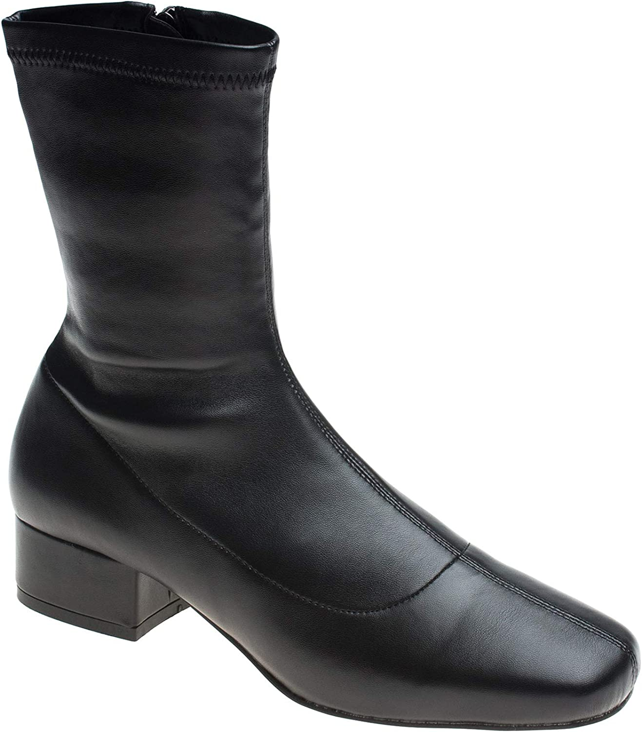 AnnaKastle Womens Stretch Shaft Ankle Bootie Low Heel Boots