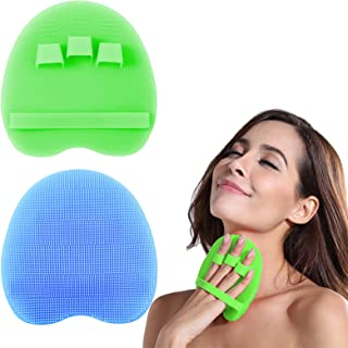 INNERNEED Silicone Body Scrubber Gentle Exfoliating Glove Shower Brush Soft Bristles - Improves Skin's Health and Beauty (...