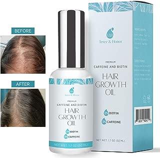 Hair Growth Oil with 2% Biotin 3% Caffeine - Castor Oil,? Rosemary Oil, for Stronger, Thicker, Longer Hair and Stimulate New Hair Growth 1.7 oz