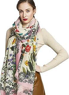 DANA XU 100% Pure Wool Women Scarf Large Size Shawl Pashmina Scarf Mask