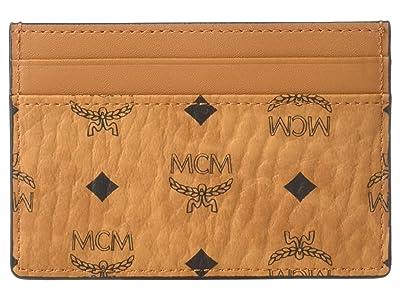 MCM Visetos Original Card Case Mini (Cognac) Bags
