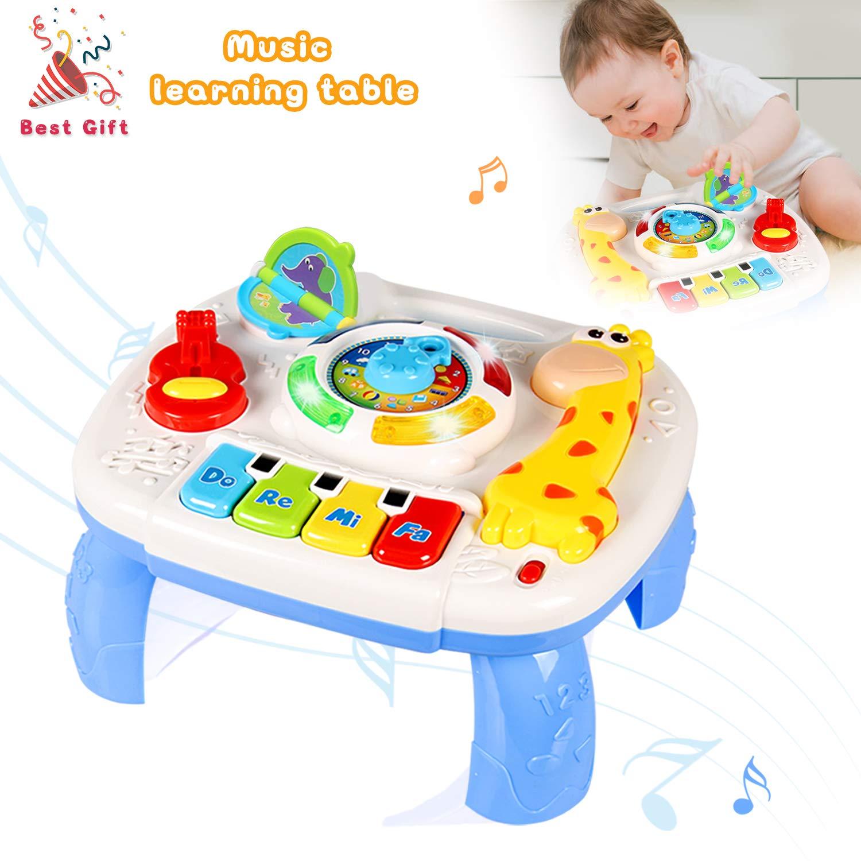 ACTRINIC Mesa Musical De Estudio Juguete para Bebés De 6 A 12 Meses Juguete De Educación