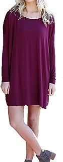 Women's Original Long Sleeve Tunic-Burgundy-small