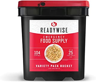 Wise Company Emergency Food Supply, Variety Pack, 25-Year Shelf Life, 104 Servings
