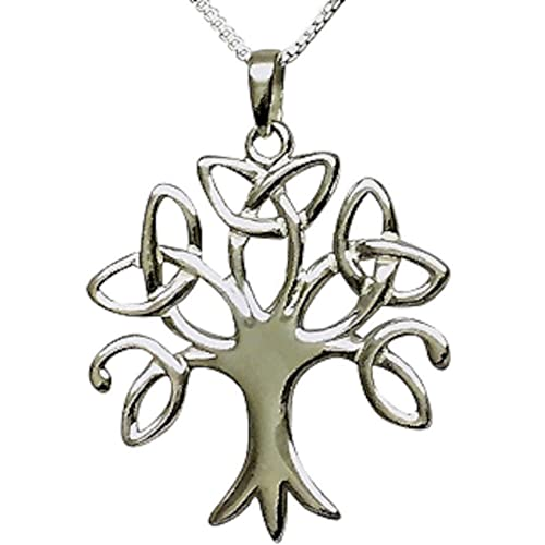 3f94d2340eb Sterling Silver Celtic Trinity Tree of Life Necklace (Crann Bethadh)  Woman s Size