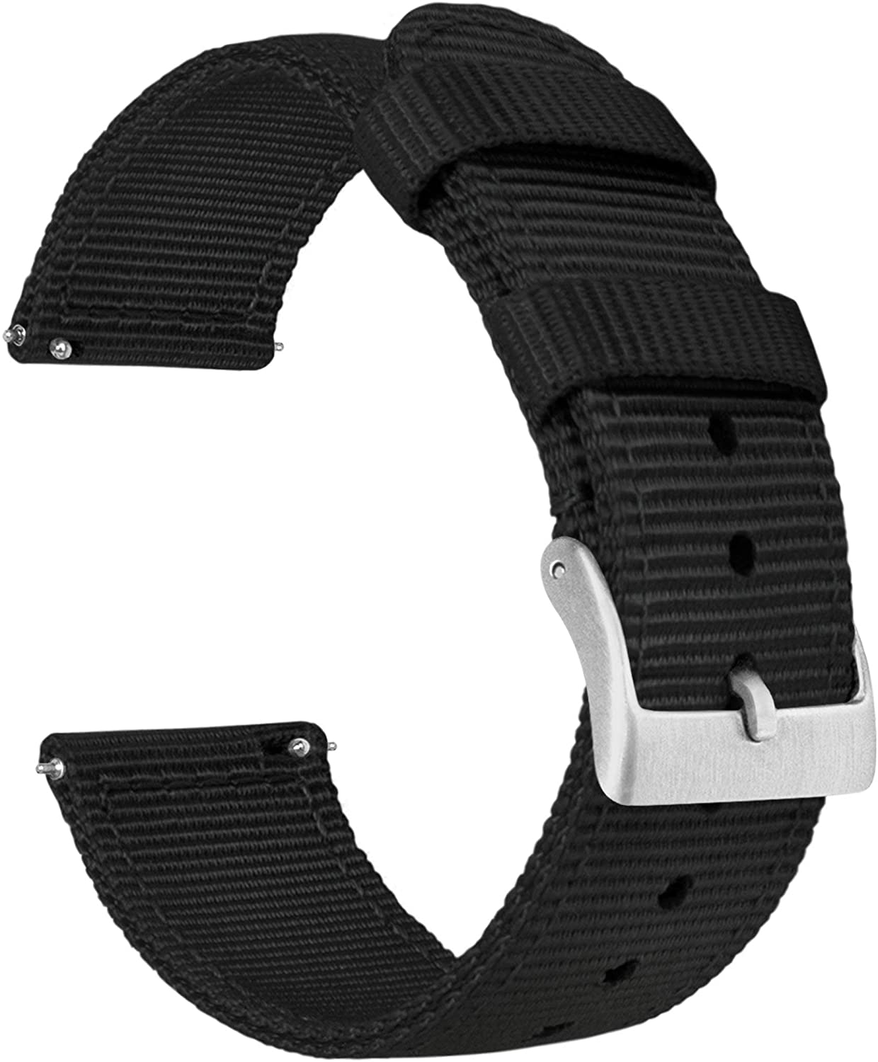 BARTON Watch Bands - Ballistic St Nylon Two-Piece Style Military Shipping included Super sale period limited