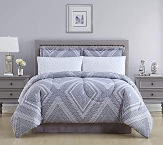 Ellison First Asia 19331804BB-MUL Aileen Bed in a Bag Comforter Set44; Grey - King Size44; 8 Piece