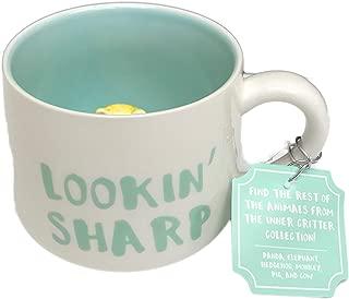 Lookin' Sharp Hedgehog Themed Play on Words Novelty 12 oz Coffee Tea Drink Gift Mug