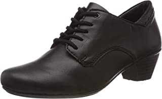 Karissa Womens Mid Heeled Lace Up High Cut Shoes