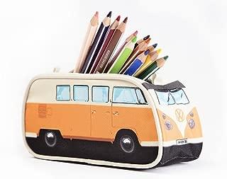 VW Volkswagen T1 Camper Van Pencil Case - Orange - Multiple Color Options Available