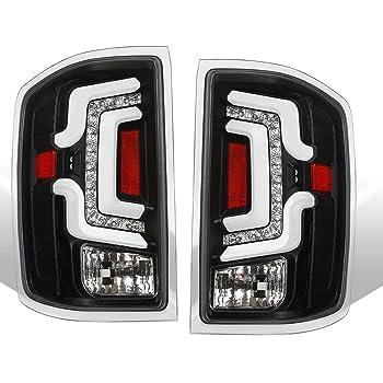 SEQUENTIAL Signal ANZO Black USA 311289 Chevy Silverado 14-18 L.E.D Tail Lights HOUSING Clear Lens