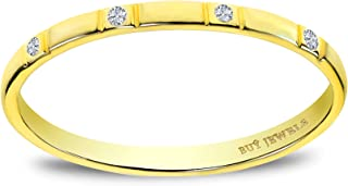 Buy Jewels 10k Gold and Diamond Dainty Promise Anniversary Ring for Women
