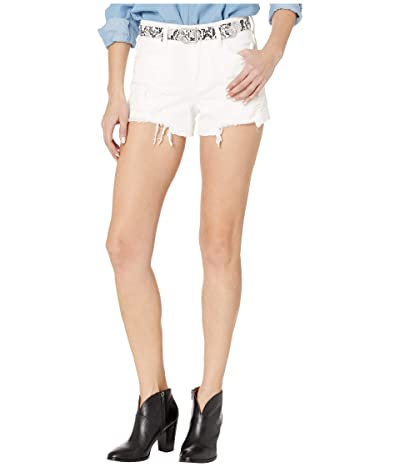 Blank NYC The Barrow Vintage High-Rise Shorts with Belt in Head in The Clouds (Head in The Clouds) Women