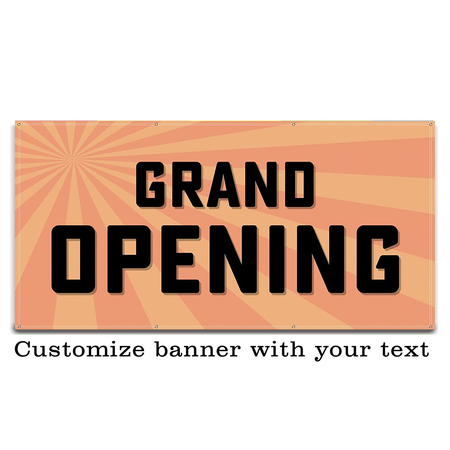 Buttonsmith Custom Starburst Banner 6'x3' - Indoor/Outdoor - Personalize with Your Text - Designed, Printed, and Assembled in USA