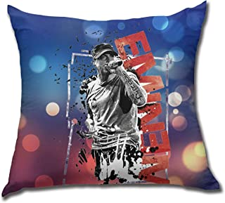 AlyseEvans Eminem Decorative Square Throw Pillow Cover Cushion Covers Pillowcase, Home Decor Decorations for Sofa Couch Bed Chair 18x18 Inch/45x45 cm