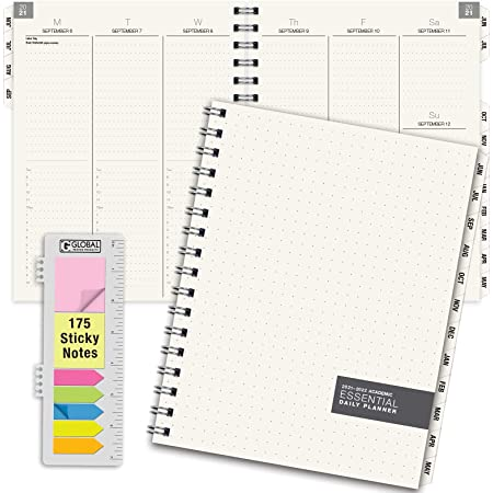 Essential 7x9 Monthly & Weekly 2021-2022 Planner - (7x9 - June 2021 Through July 2022)