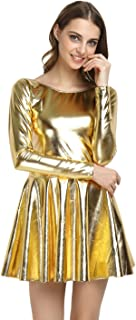 Shiny Wet Look Dress Cosplay Costumes