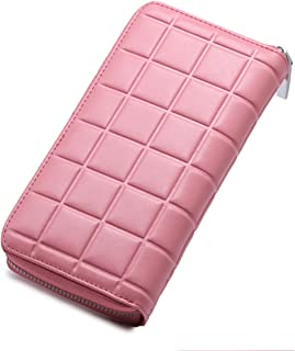 Women's 30 Slots Rfid Blocking Card Holder Large Long Leather Zipper Checkbook Wallet