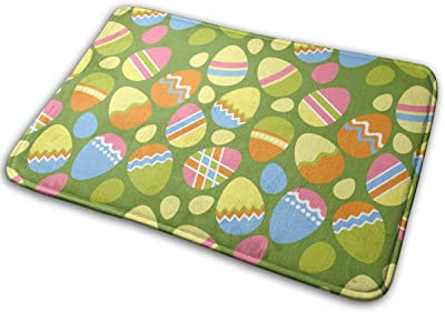 Easter Eggs Carpet Non-Slip Welcome Front Doormat Entryway Carpet Washable Outdoor Indoor Mat Room Rug 15.7 X 23.6 inch