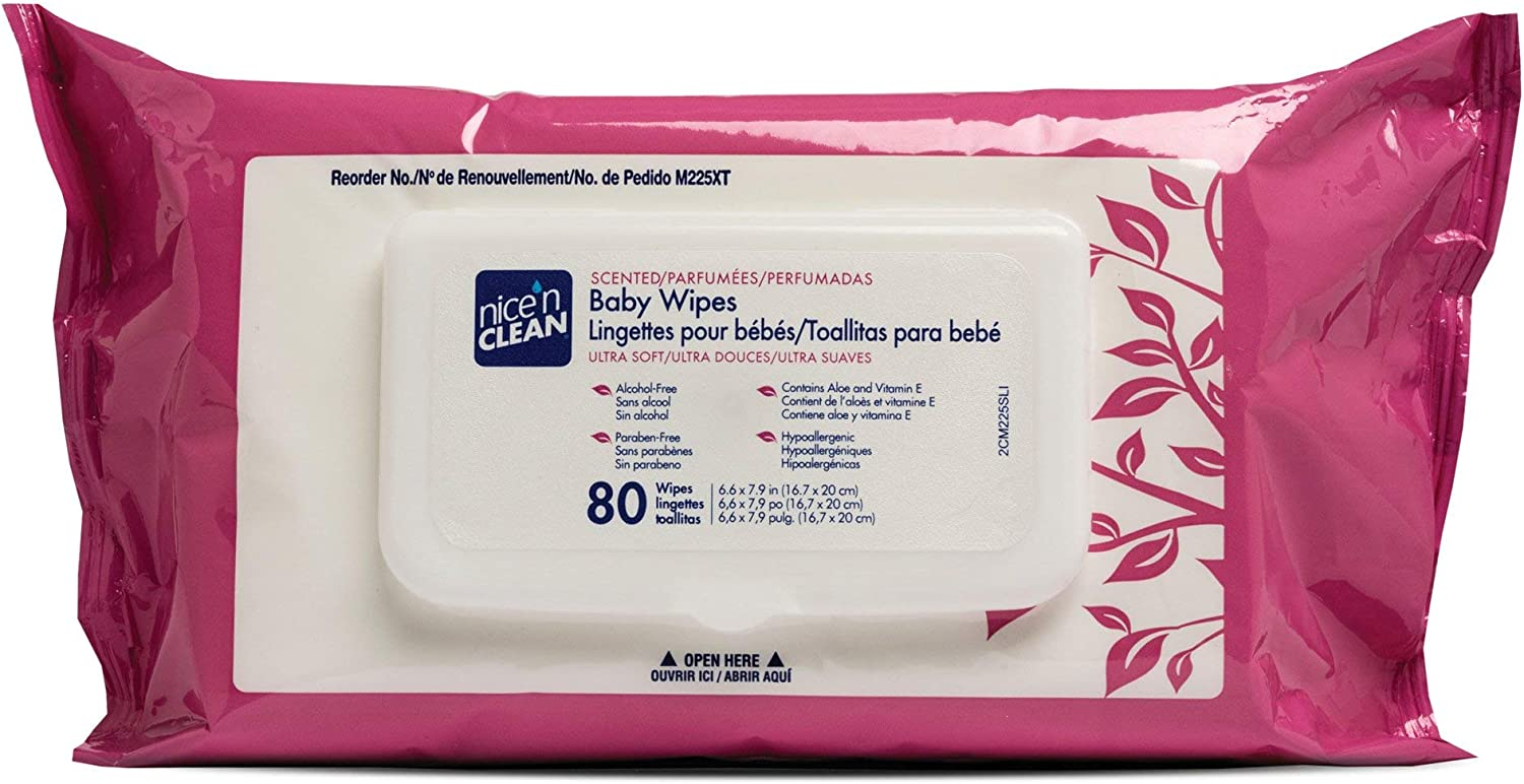 Nice 'N Clean Baby Wipe Soft Scented Aloe 80 Pack Count Manufacturer OFFicial shop Online limited product