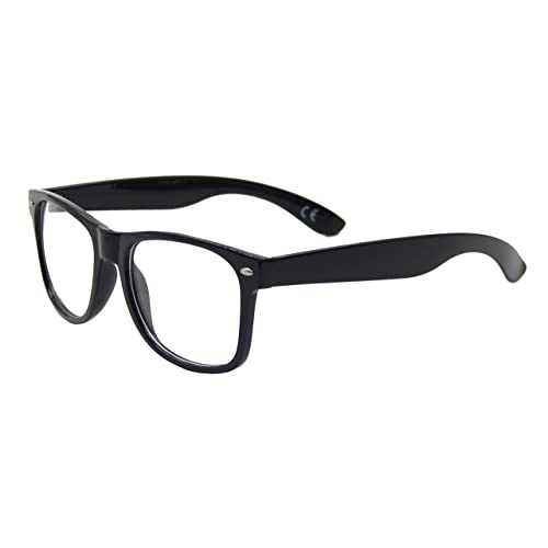 a04df4d84c Clear Lens Geek Retro Unisex Glasses