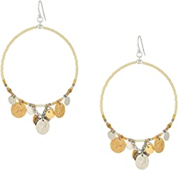 Chan Luu - Hoop Earrings with Dangling Coins