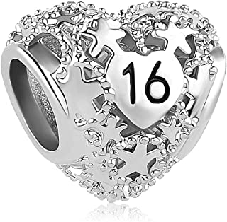 Heart Love Sweet 16th 18th Birthday Charms Butterfly Charm Beads for Bracelets