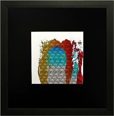 SAF Textured Print with UV Framed Reprint Painting (SANFO597, 25 cm x 3 cm x 25 cm) SANFO597