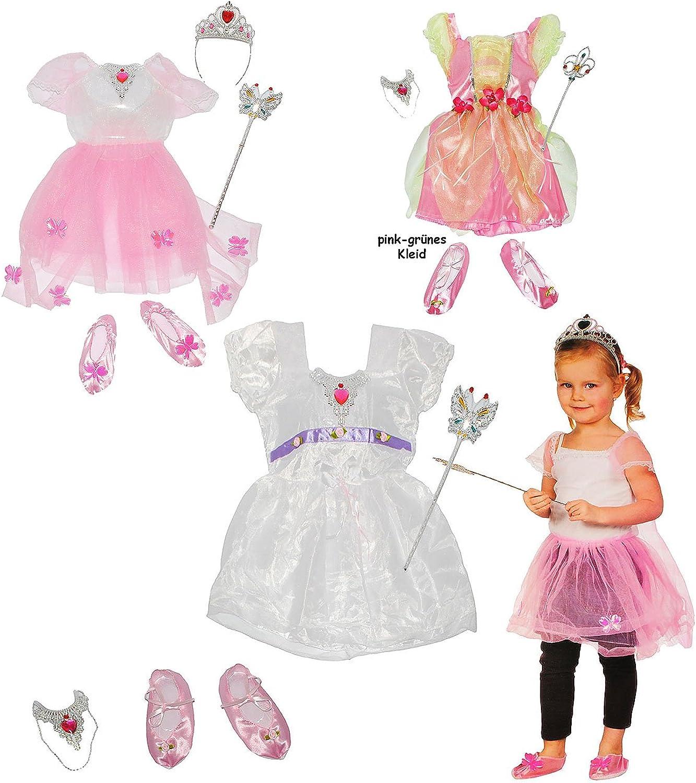 Alles-meine  GmbH 3 Set´s _ 4 TLG. Kostüm -  Prinzessin   Ballerina  - 2 bis 4 Jahre - Gr. 98 - 110 - Kleid - Schuhe & Schmuck & Zauberstab - für Kinder Kind Kinderkostüm - B.. B01ATRKROM Spaß  | Haltbar