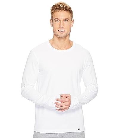 Hanro Living Long Sleeve Crew Neck Shirt (White) Men