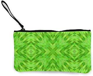 Wrution - Monedero de Lona con diseño de Mosaico Triangular ...