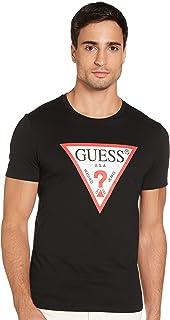 Guess T-Shirt uomo Slim fit con Logo triangolo Nero ES21GU46 M1RI71I3Z11