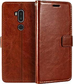 Alcatel A7 XL plånboksfodral, premium PU-läder magnetiskt flip fodral med korthållare och ställ för Alcatel A7 XL