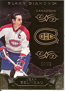 2018-19 Upper Deck Black Diamond Black Base Card /99 Jean Beliveau Montreal Canadiens